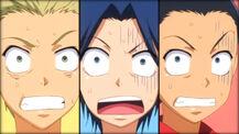 Shocked moron trio