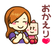 Linesticker2 secretary+sally