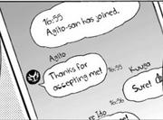 Kuuga accepts Agito's chat invite