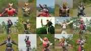 15 Heisei Riders