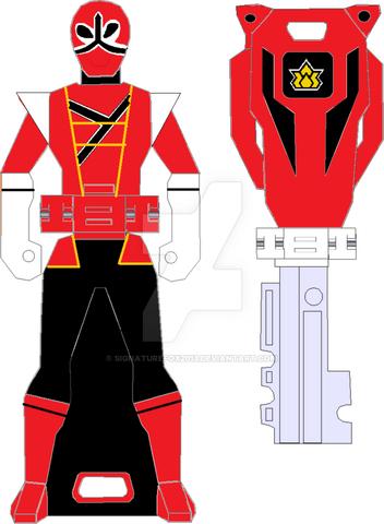 File:Hyper shinken red ranger key by signaturefox2013-d8g1ugg.png