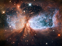 Star-forming region S106 (captured by the Hubble Space Telescope)