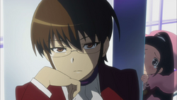 Keima's calm look