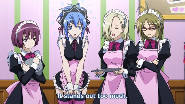File:Natsuru and the Chairman and company dressed in maid oufits in quasi-cafe.jpg