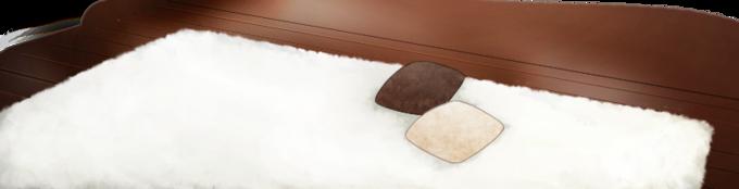 Pure white fluffy carpet