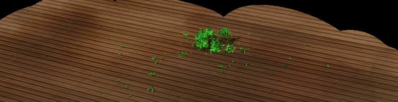 Fresh green floor