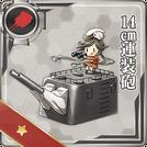 14cm Twin Gun Mount 119 Card