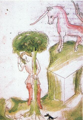 File:Barlaam & Ioasaph - Allegory of the man in the tree Hugo von Trimberg.jpg