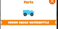 Design squad water bottle kart