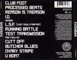Kasabian CD Album (USA Reissue) - 6