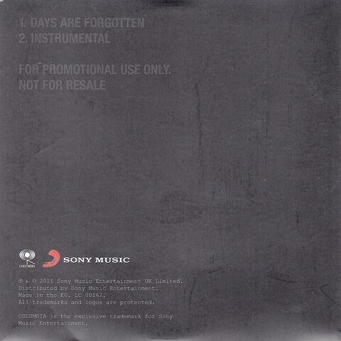 File:Days Are Forgotten Promo CD (PARADISE67) - 3.jpg