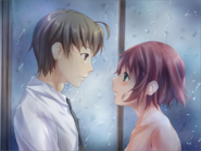 Rin and Hisao sharing their feelings