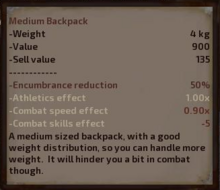 Medium Backpack Description