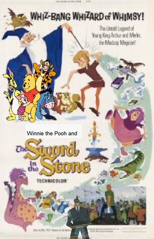 Winnie the Pooh and The Sword in the Stone Poster