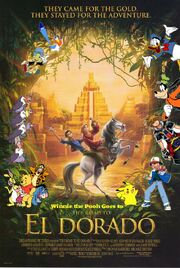 Winnie the Pooh's Goes to The Road to El Dorado Poster
