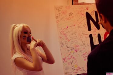 Kerli NOH8 Campaign Behind the Scenes Celebuzz 14