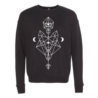 <b>Diamond Wolf Sweater</b><br />$40.00<br />Soft sweater, featuring an oversized diamond wolf design. This ancient animal totem brings with it the gifts of instinct, loyalty and strength.