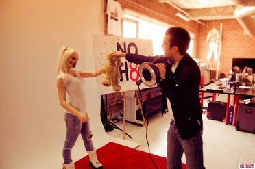 Kerli NOH8 Campaign Behind the Scenes Celebuzz 12