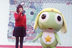 Kumiko with Keroro advertising the flash series