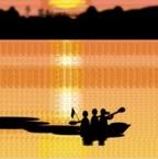 File:Sunset with lake.jpg