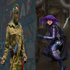 Colonel Stars and Stripes, Hit-Girl, Kick-Ass, Ass Kicker, Remembering Tommy, Insect Man, Battle Guy, Night Bitch, Dr. Gravity, Crossing-Guardian, GammaMan, Green Vixen, Moon Bird, Mustard Man, Rocket Man