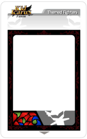 AR Card Template Fighter