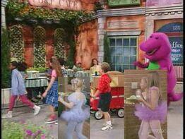 Kids World's Adventures of Walk Around the Block with Barney & Richelle