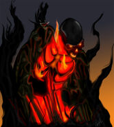 Hexxus's monsterus form. it mirrors his evil nature.