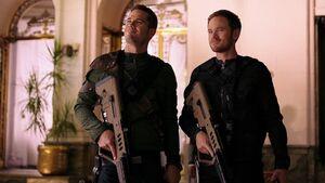 D'avin and Jon carrying Tavor assault rifles Episode 4