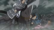 Shin Saves Mou Ten From Kai Shi Bou's Strike anime S2