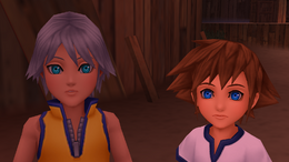 Sora e Riku crianças