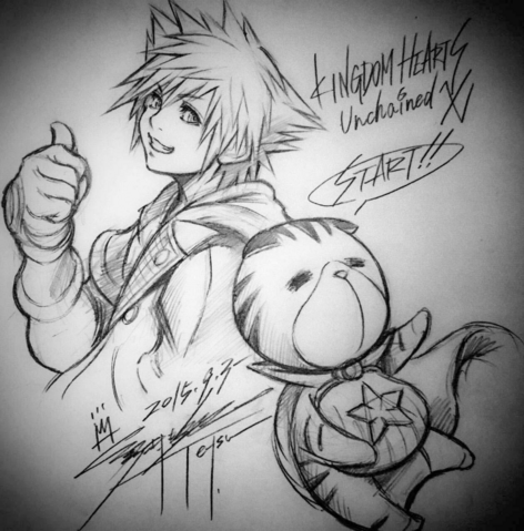 File:Sora and Chirithy KHUX.png