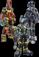 Aqua, Terra, Ventus- Keyblade Armor KHBBS