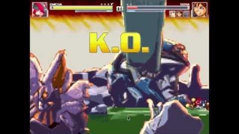 Omega Vs Sora, Sora, Axel, and Cloud