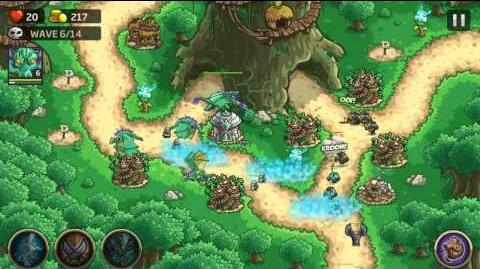 Kingdom Rush Origins Gameplay Redwood Stand Veteran 3 Stars