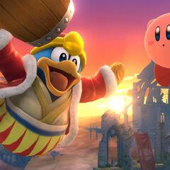 Rey Dedede junto a Kirby
