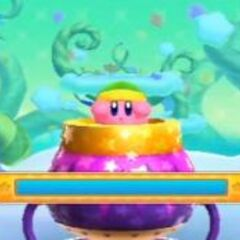 Kirby en un minijuego bonus