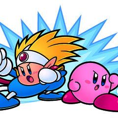 Artwork de Kirby y Knuckle Joe en <a href=