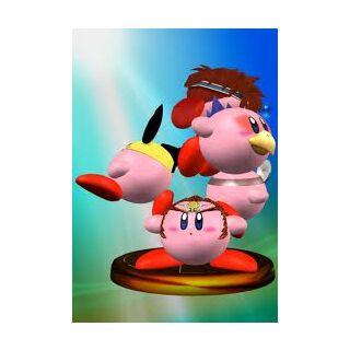 Trofeo de SSBM donde se ve a Falco Kirby