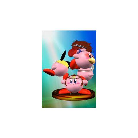 Dr Mario Kirby en un trofeo de SSBM