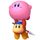 KRTDL Artwork Kirby Flotando con Bandana Dee