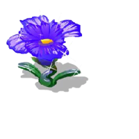 Glass flower blue premium market