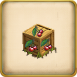 Box with cherries framed