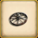 Iron wheel framed