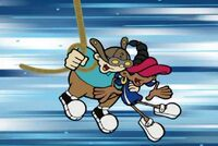 Numbuh 2 saves numbuh 5 after she walks the plank