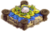 Flowerbed yellowblue