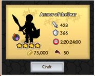 Armor of the bear craft cost
