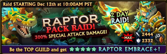 Raptor Raid Banner