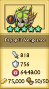 Dryope's Vengeance Crafting Stats