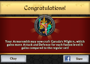 Garuda's Might Plus Armor Unlock